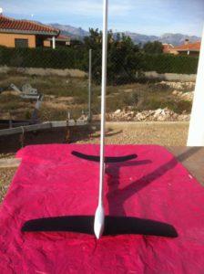 HYDROFOIL CON TABLA OLAS BEST KITEBOARDING. www.radicalsurfex.com escuela kitesurf delta del Ebro,